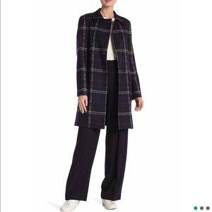 Theory Abla plaid coat